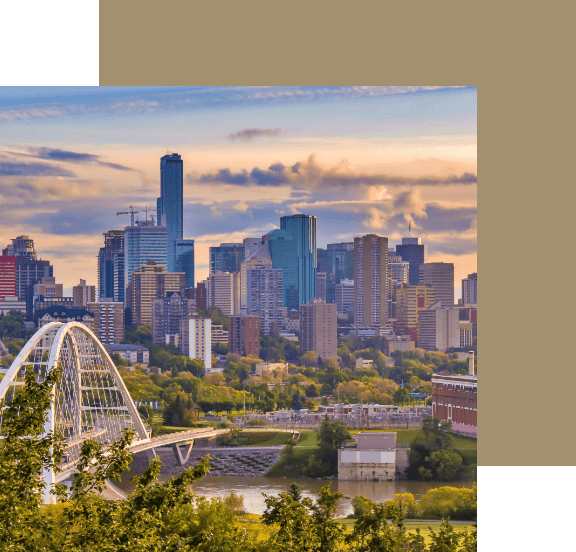 A view of the Edmonton skyline.